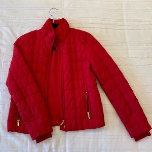 J. Crew quilted zip down puffer jacket